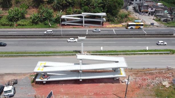 SSA: Operação de içamento de travessia de passarela será realizada neste domingo na BR-324 - bahia